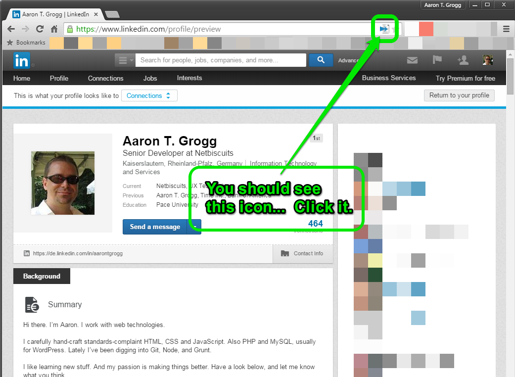 LinkedIn Chrome Extension Instructions, Step 2  Find Resumes On Linkedin